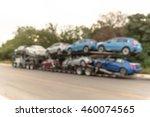 blurred image big car carrier