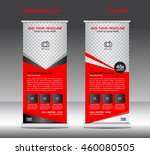 red roll up banner template... | Shutterstock .eps vector #460080505