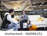 Small photo of SAN DIEGO COMIC CON: July 22, 2016. Voice actor and Critical Role Game Master Matthew Mercer being interviewed at the LootCrate and GamesRadar booth.