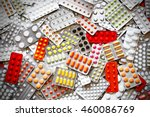 Small photo of A lot of medicine pills in packs