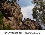 rocky cliff in cesky raj  | Shutterstock . vector #460103179