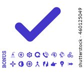 ok glyph icon. image style is a ...