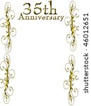 35th anniversary on a solid... | Shutterstock . vector #46012651
