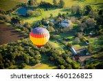 Aerial View Of Hot Air Balloon...