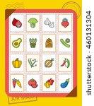 icon set vegetable vector | Shutterstock .eps vector #460131304