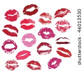 collection of kisses  vector | Shutterstock .eps vector #46013530