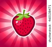 strawberry icon on pink... | Shutterstock .eps vector #460138471