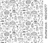 seamless pattern hand drawn... | Shutterstock .eps vector #460142077