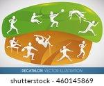 decathlon design showing all... | Shutterstock .eps vector #460145869