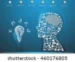 vector illustration flat design ... | Shutterstock .eps vector #460176805