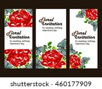 invitation with floral... | Shutterstock .eps vector #460177909