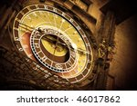Old Astronomical Clock On Old...