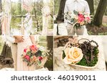 wedding decoration on boho... | Shutterstock . vector #460190011