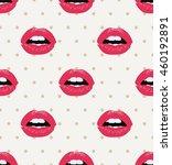 lips seamless pattern   Shutterstock .eps vector #460192891