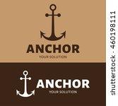 vector logo anchor. brand logo... | Shutterstock .eps vector #460198111