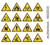 warning signs  vector  | Shutterstock .eps vector #4602010