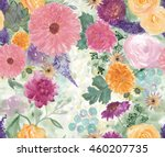 seamless pattern with beautiful ... | Shutterstock . vector #460207735