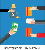 concept for crowdfunding  hand... | Shutterstock .eps vector #460219681