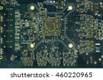close up of the blue circuit... | Shutterstock . vector #460220965