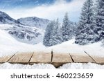snow and desk  | Shutterstock . vector #460223659