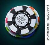 realistic casino chips  vector... | Shutterstock .eps vector #460224445