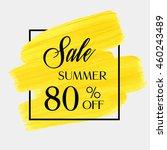sale season spring sale 80  off ... | Shutterstock .eps vector #460243489