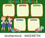 banner back to school boy girl... | Shutterstock . vector #460248754
