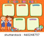 banner back to school boy girl... | Shutterstock . vector #460248757