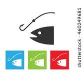 fishing rod silhouette. concept ... | Shutterstock .eps vector #460249681