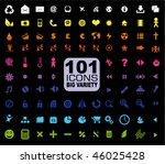 101 icons collection   general. ... | Shutterstock .eps vector #46025428