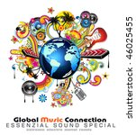 global music event abstract... | Shutterstock . vector #46025455