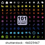 101 icons collection   general. ... | Shutterstock . vector #46025467
