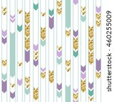 seamless gold  green and purple ... | Shutterstock .eps vector #460255009