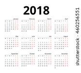 calendar 2018 layout template... | Shutterstock .eps vector #460256551