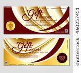 gift voucher. vector ... | Shutterstock .eps vector #460257451