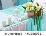 wedding table decorations in... | Shutterstock . vector #460258081