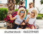 young girls having fun at the...   Shutterstock . vector #460259485