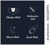 logo design. vector emblem.... | Shutterstock .eps vector #460260991