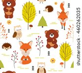 vector seamless pattern with...   Shutterstock .eps vector #460262035