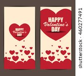 happy valentines day banner and ... | Shutterstock .eps vector #460277491