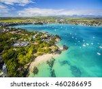mauritius beach aerial view of... | Shutterstock . vector #460286695