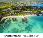 mauritius beach aerial view of... | Shutterstock . vector #460286719