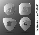 4 images  dog  repair shop ... | Shutterstock .eps vector #460287049