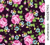 seamless floral pattern with... | Shutterstock .eps vector #460287901