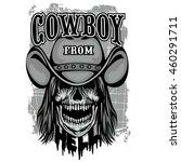 cowboys coat of arms with skull ... | Shutterstock .eps vector #460291711