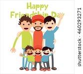 friendship day poster template | Shutterstock .eps vector #460293271