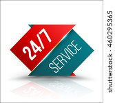 arrow red green service 24 7... | Shutterstock .eps vector #460295365