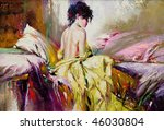 portrait of the nude girl on a... | Shutterstock . vector #46030804