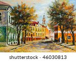 ancient vitebsk in the autumn | Shutterstock . vector #46030813