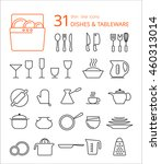 outline icon collection  ... | Shutterstock .eps vector #460313014
